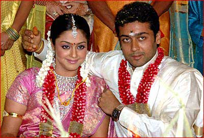 Jyothika And Surya Movies http://www.srajaram.com/2006/09/surya-jyotika-wedding-in-chennai.html