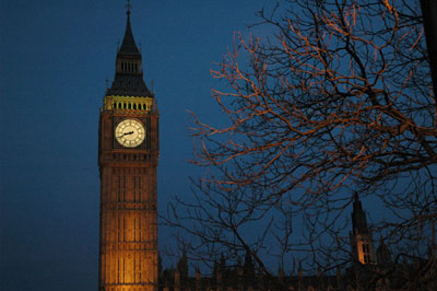 london big ben at night photo