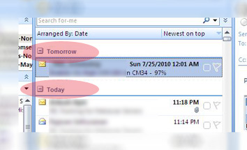 Microsoft outlook predicts the future!