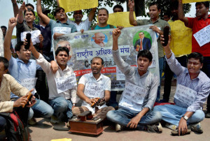 UPSC Exam Students Protest No English